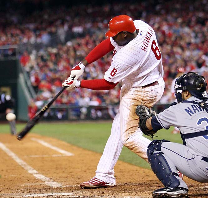 Howard came out of a postseason-long slump in Game 4, connecting for two homers. The slugging first baseman drove in five runs on homers in the fourth and eighth innings.