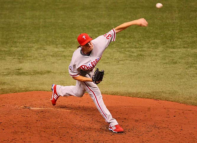 In Game 1 of the World Series, NLCS MVP Cole Hamels tossed another gem, giving the Phillies seven strong innings on their way to a 1-0 lead and a 3-2 victory.<br><br>Text by Josh Zembik.