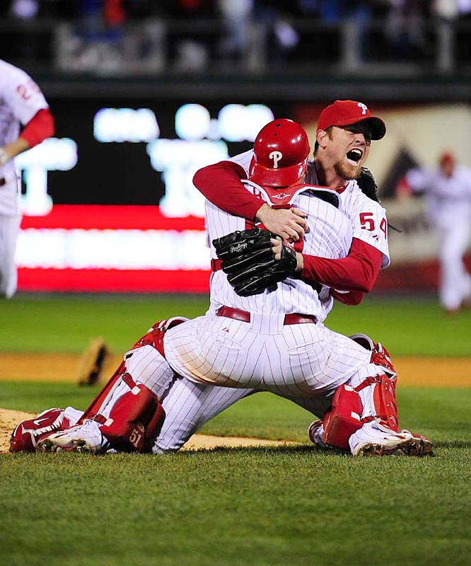 Brad Lidge, the stand-up closer with a painful postseason past, put an emphatic end to his season of redemption with a nearly perfect ninth inning to seal the win -- the Phillies first world title since 1980.