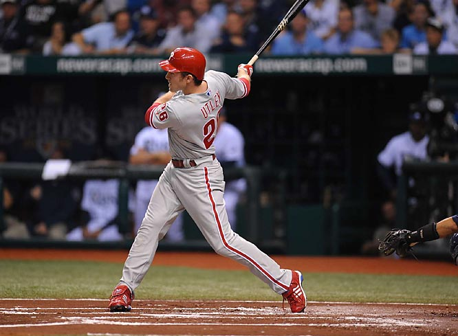 Chase Utley got the Phillies off to a quick start in Game 1, smashing a Scott Kazmir fastball into the right field seats. Kazmir allowed just one homer to left-handed hitters in 131 regular season at-bats.
