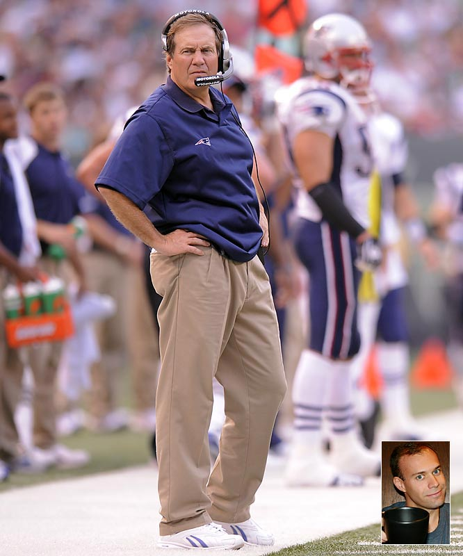 """Because with the state of the economy, Bill Belichick's video crew now does freelance work."""