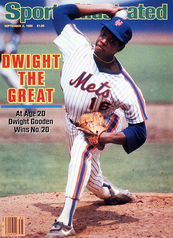 "Only 20 years old, ""Doc"" Gooden dominated the National League, going 24-4 with eight shutouts, a 1.54 ERA and 268 strikeouts."