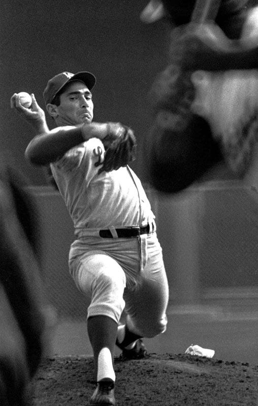 Winning his second of three Cy Young awards, Koufax threw a perfect game in 1965 while going 26-8 with a 2.04 ERA and an NL-record 382 strikeouts.