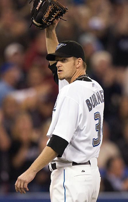 The Blue Jay set career highs in wins (18), starts (34), innings pitched (221 1/3) and strikeouts (an AL-best 231) and can opt out of his contract to become a free agent. Bidders should be warned: Burnett spent the first two years of his five-year, $55 million contract battling the injuries that have plagued him most of his career.