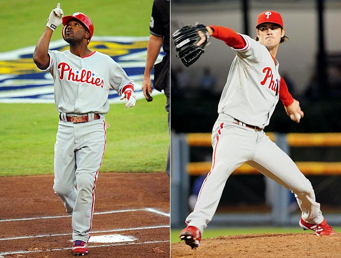 Jimmy Rollins led off Philly's NLCS clincher with a homer -- becoming the first player in history to hit two leadoff homers in the same postseason -- and Cole Hamels pitched his third gem of the playoffs to garner MVP honors for the series.