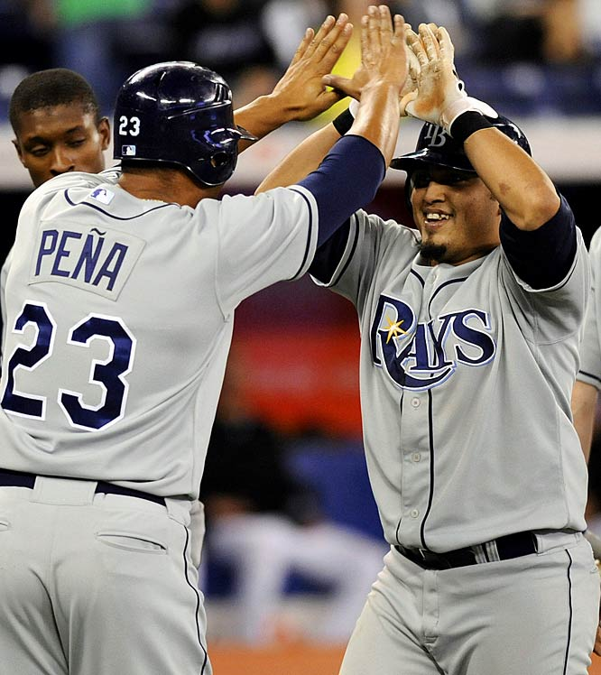 Some believe this was the moment that lit the fuse for the Rays' run. Sitting with a 17-16 record on May 8, the Rays blew a three-run lead in the ninth inning ... only to rally to win 8-3 in 13 innings on Dioner Navarro's grand slam. Tampa Bay finished the month by winning 17 of its next 23 games to climb into the AL East lead.