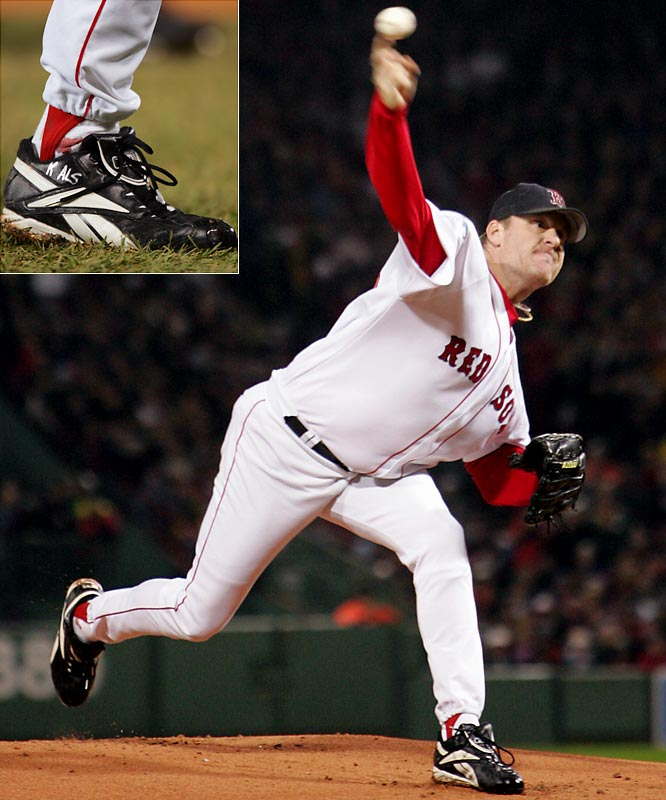 "In the series that exorcised ""the Curse of the Bambino,"" the Red Sox came back from a 3 games-to-none deficit, becoming the first team in Major League history to do so. Curt Schilling's bloody sock from Game 6 is the iconic image of the series, but David Ortiz, who had walk-off hits in Games 4 and 5, and Johnny Damon, who hit two home runs in a Game 7 rout, were also heroes."
