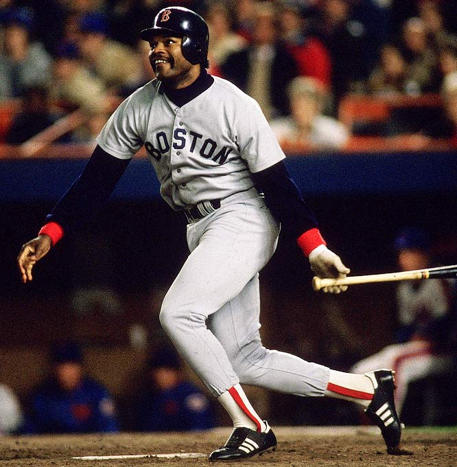 Don Baylor and Dave Henderson (pictured) hit ninth-inning home runs in Game 5 to pull the Red Sox out of a three-run hole and spark Boston's comeback. The Red Sox won that game in extra innings to send the series back to Boston, then cruised in Games 6 and 7 by a combined score of 18-5.