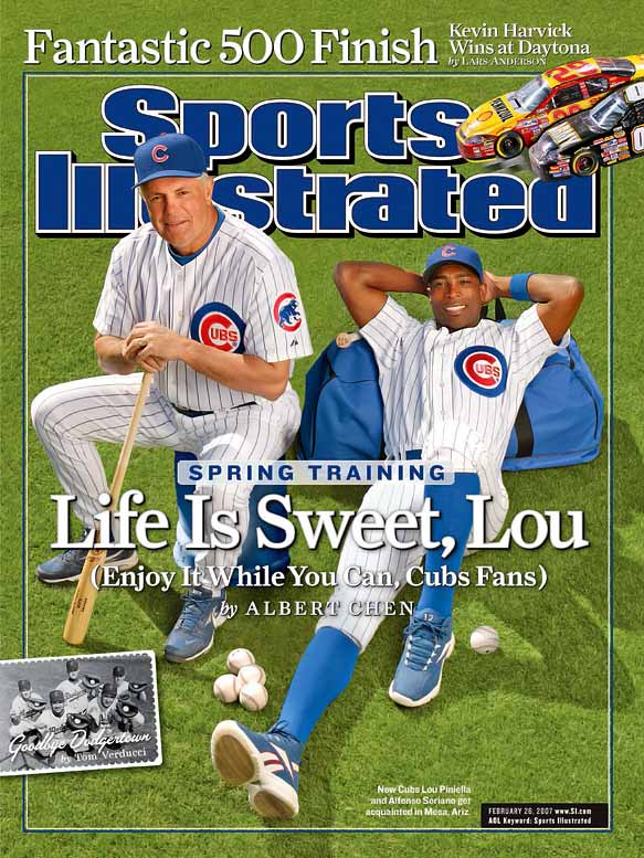 The Cubs slumped to a 96-loss season in 2006, but rebounded in 2007 behind new manager Lou Piniella and a roster bolstered by $300 million worth of new additions, like Alfonso Soriano and pitcher Ted Lilly. The Cubs were stuck at 22-31 in June before catching fire and winning the NL Central in the last week of the season.