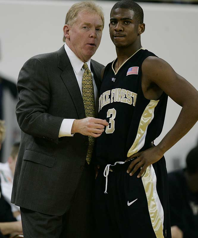 A McDonalds All-American, Chris Paul averaged 30.8 points, 9.5 assists, 5.9 rebounds and 6.0 steals per game as a high school senior. He opted to join Skip Prosser's Wake Forest Demon Deacons.