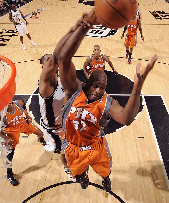 The Diesel already has vowed revenge on the Spurs for playing Hack-a-Shaq in the playoffs last season, but it's fair to wonder whether O'Neal will be healthy enough to make San Antonio or any other Suns rival pay when the games get really meaningful. Shaq hasn't played close to a full season since 2004-05, yet the Suns are relying on the 36-year-old center to score in the post and anchor the defense as they transition to a more conventional style under new coach Terry Porter.
