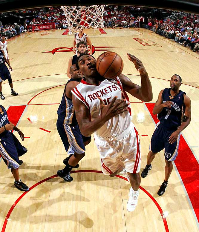 Frustrated by another first-round playoff ouster, the Rockets took a bold gamble by acquiring mercurial forward Ron Artest in a trade with the Kings. Can the two-time All-Star join with Tracy McGrady and Yao Ming to make the Rockets a championship contender? Or will Artest's history of off-court problems lead to distraction and another aborted title mission in Houston? Of course, even a controversy-free season from Artest might not help much if Yao and T-Mac can't stay healthy for a full season.