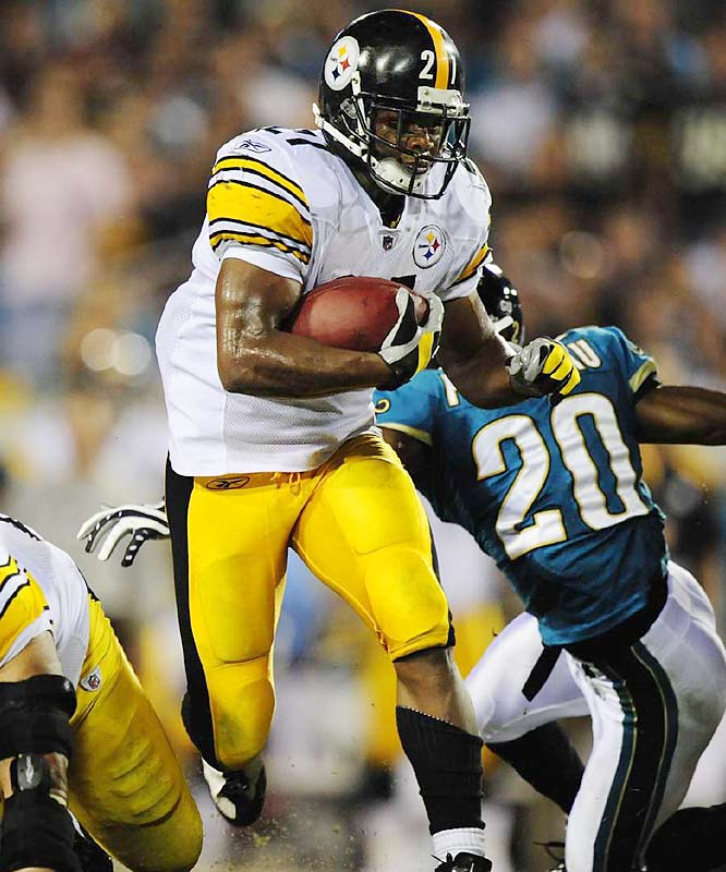 Moore filled in for the injured Willie Parker, and had a huge game against Jacksonville, in Week 5. The fifth-year back ran for 99 yards as the Steelers moved to 4-1 with the 26-21 win. He scored three touchdowns in next game and one more the week after that.