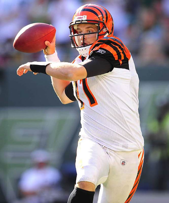 With Carson Palmer fighting an inflamed elbow, the Harvard-educated Fitzpatrick has taken the Bengals' reigns. In four starts, he has thrown for 627 yards, two touchdowns and five interceptions.