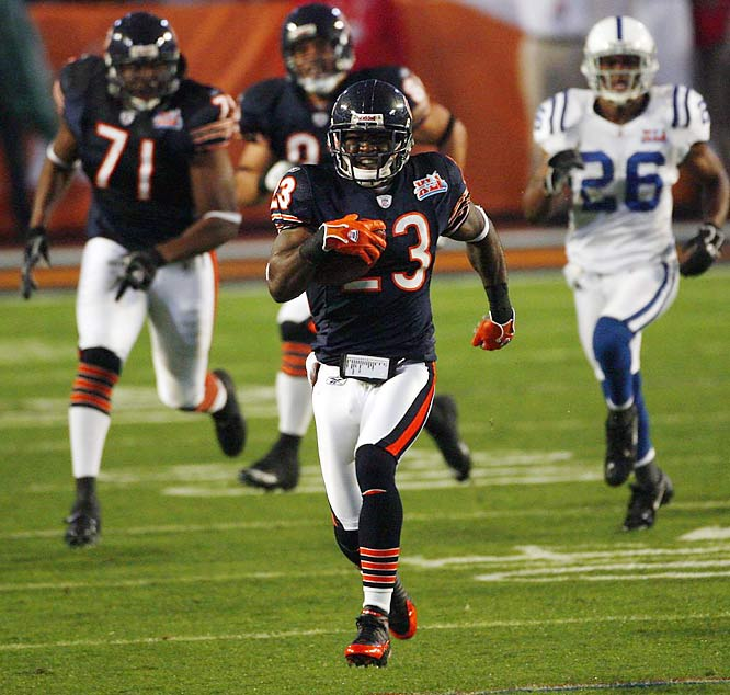 Hester famously returned a missed field goal attempt 108 yards for a touchdown. He also has returned 12 punts for touchdowns, five kickoffs and made 14 scoring receptions.
