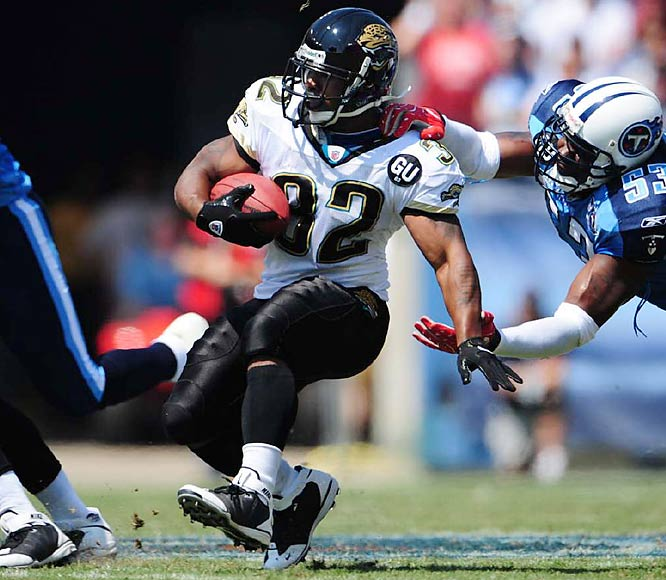 The pint-sized playmaker has been an outstanding multi-purpose threat since entering the league in 2006. Jones-Drew has averaged over five yards per carry and has over 24 rushing touchdowns in two-plus seasons.