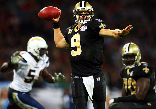 Even without Reggie Bush and a limited LaDainian Tomlinson, Londoners in Wembley Stadium were treated to an offensive explosion, thanks to Drew Brees' three-TD day.