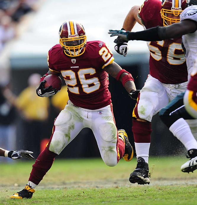 Portis ran for 145 yards and one touchdown, helping the Redskins beat the Philadelphia Eagles 23-17. The Redskins have reeled off four straight wins since a Week 1 loss to the Giants.