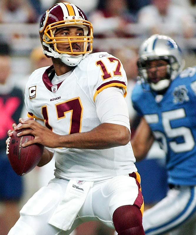Jason Campbell was 23-of-28 for a season-high 328 yards, a touchdown and a career-high 127.4 passer rating in the Redskins' 25-17 win over Detroit. In the Lions' seven losses, six quarterbacks have had a career-high passer rating against them.