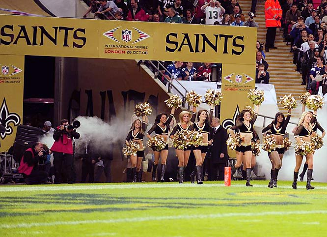 After last year's muddy slog at Wembley, the NFL returned to London for a high-scoring showdown between the Saints and Chargers. Drew Brees went 30-for-41 for 339 yards and three touchdowns against his former team to lead the Saints to a 37-32.