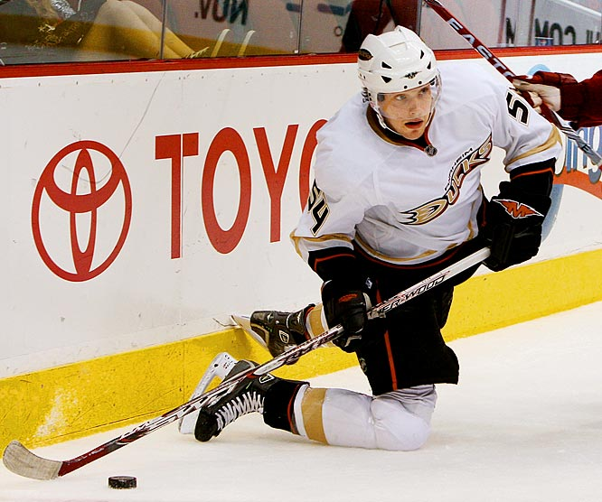 With the Ducks in cap purgatory, they're forced to hope for a significant contribution from their consolation prize in the Sidney Crosby draft derby. Ryan had his moments during last season's 23-game tryout, notching five goals and 10 points, but critics questioned his skating and fitness. He's tried to answer those charges by losing 10 pounds over the summer and spending hours on his foot speed. The results showed early in preseason and led to talk of 20 goals from the young winger.