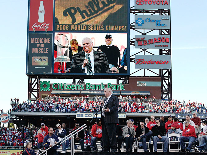 "Manager Charlie Manuel leaned into the microphone and, giving his best Rocky impersonation, said ""Yo, man. We love you."""