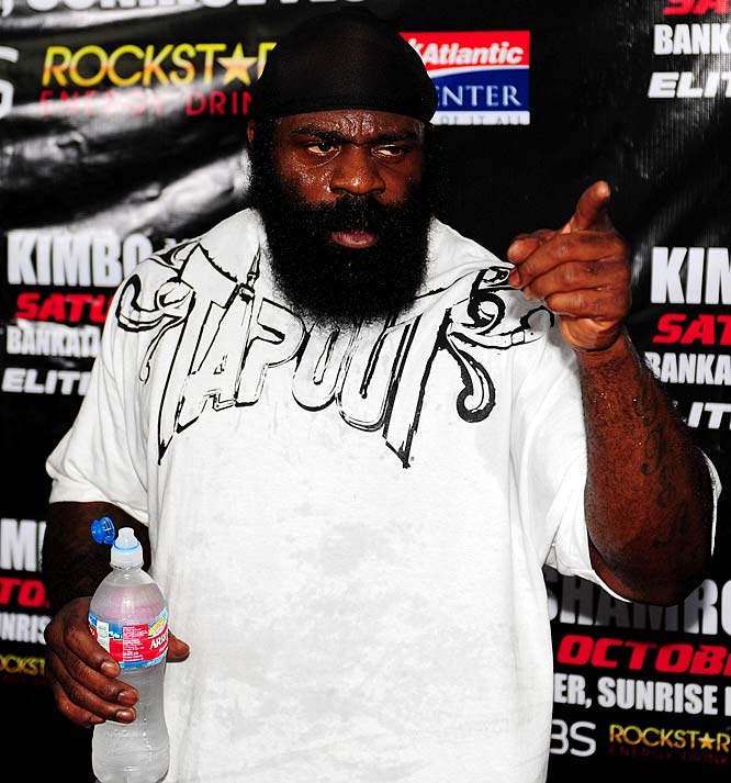 """Can we all finally move on from calling this back alley brawler the """"face of MMA?"""" In reality he was the face of what's wrong with MMA and, thankfully, was exposed by a no-name fighter 14 seconds into the first round of a nationally televised fight. Hopefully you enjoyed your 15 seconds of fame, Kimbo, because it has finally ended."""