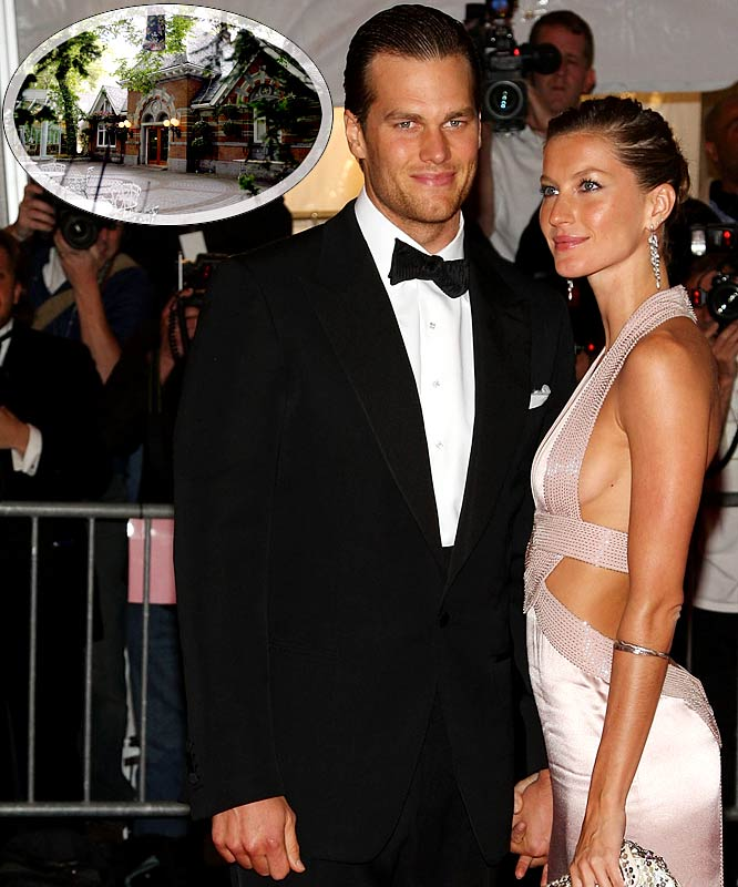 It looks like Brady is getting so bored while sitting out this season that he's thinking of getting married to Gisele Bundchen in the near future at New York's Tavern on the Green. Now I'm no wedding planner but I'm guessing there are more private, less cliché places to get hitched than Tavern on the Green.