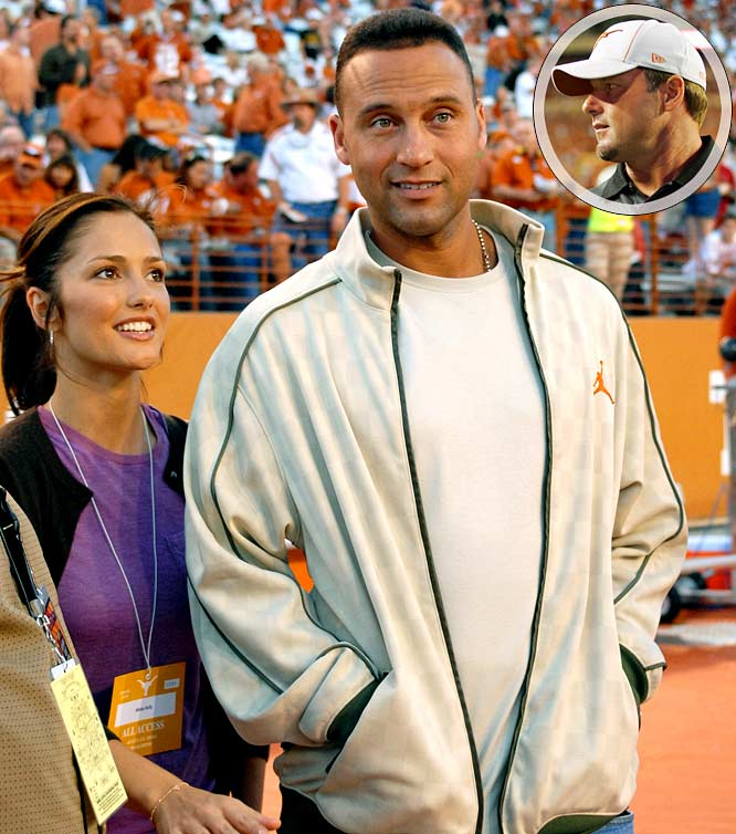 "Jeter took his girlfriend and ""Friday Night Lights"" star Minka Kelly to the Texas-Missouri game on Saturday where they stood on the sideline next to Roger Clemens. When Clemens asked Jeter about being snubbed by the Yankees at the last game at Yankee Stadium, Jeter should have said, George Steinbrenner ""misremembered"" his invitation."