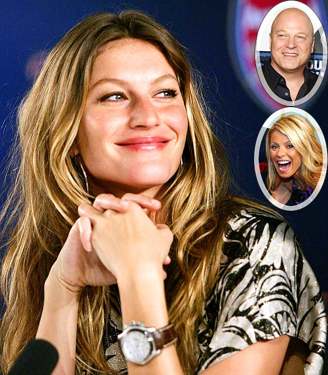 "Gisele hasn't seen her man Tom Brady in uniform all season, but at least she was able to see Michael Chiklis wearing his No. 12 jersey while the duo performed Bon Jovi's ""Livin' on a Prayer"" with Kelly Rippa. Pats fan Chiklis was subbing for Regis Philbin on the show and before the song began, Kelly set up the moment perfectly. ""Michael is living out his Tom Brady fantasy, I'm living out my Gisele fantasy and Gisele Bundchen,"" said Ripa. ""Is living out a nightmare."""