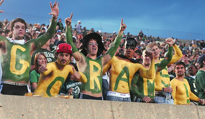 These Colorado State fans would feel right at home in a Sprite ad.