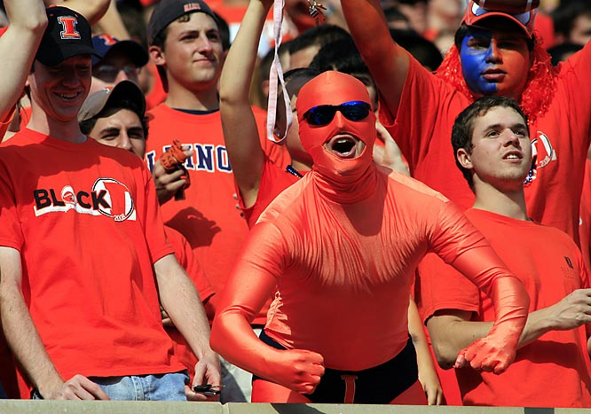 It's been a disappointing year for Illinois, but the Illini faithful still show up to play.