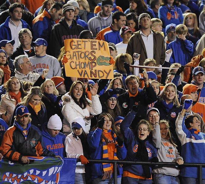 Florida fans wanted the Gators to chomp Vandy, and the Gators obliged.