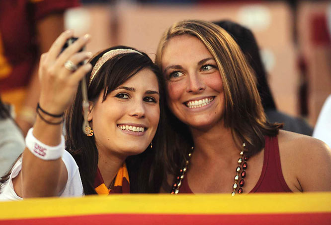 USC did such a solid job handling Cal, fans were free to take pictures of themselves and ignore the on-the-field action.