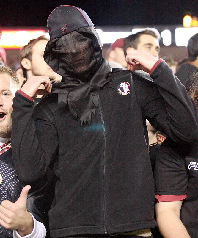 This FSU fan went all ninja for Blackout night.