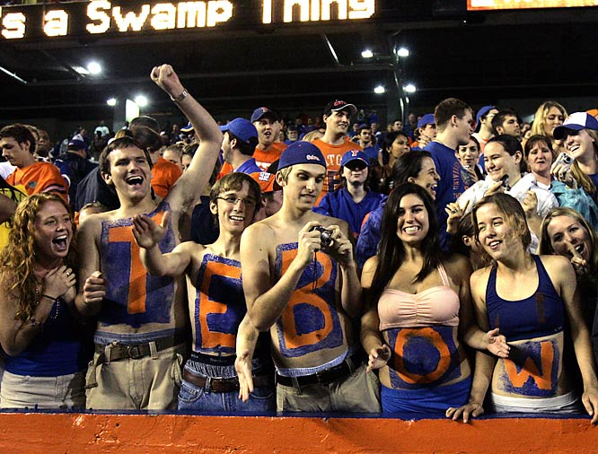 We know who these Florida fans are supporting in the Heisman race.