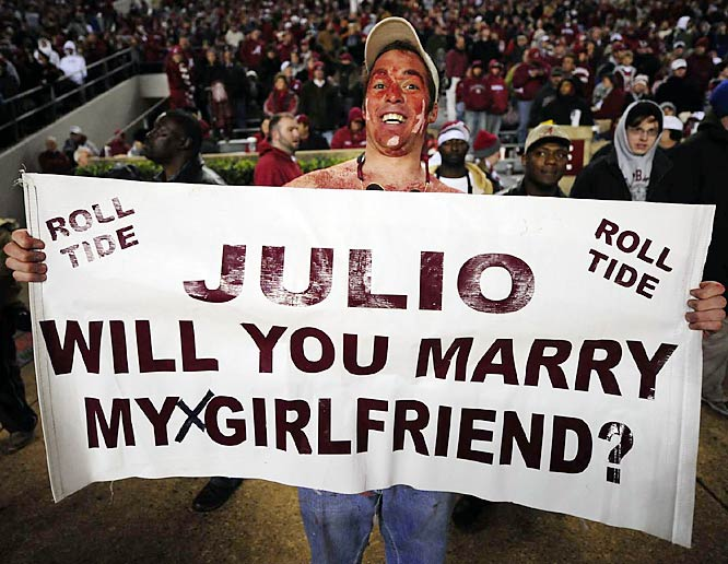 This Alabama fan's euphoria led him to make a simple request.
