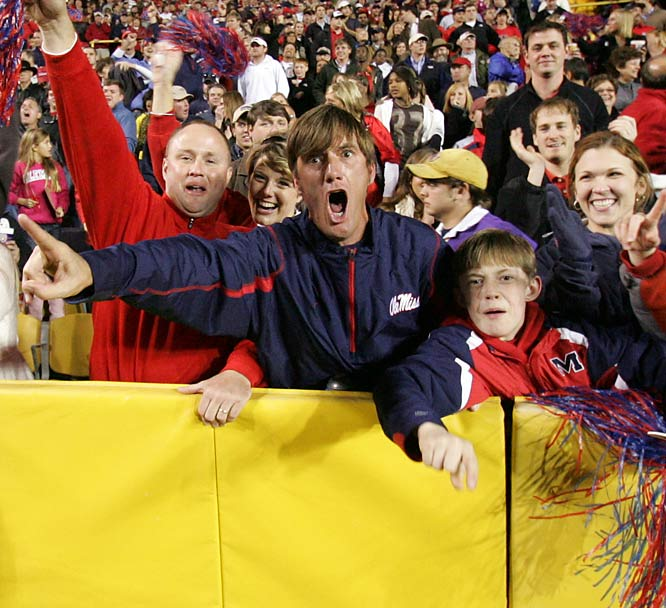 The 31-13 victory over LSU gave Ole Miss fans plenty to cheer about, as the Rebels moved into the top 25 after the win.