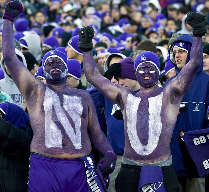 Northwestern fans had plenty to cheer about during the Wildcats' 27-10 win over Illinois.