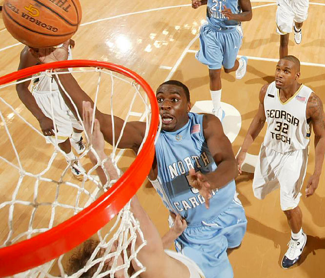Assuming Tyler Hansbrough is healthy, no team is more talented than Carolina. But anything can happen in the NCAA tournament, as Ty Lawson (pictured) and the Tar Heels discovered in last season's Final Four.