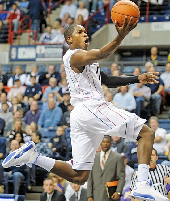 Hasheem Thabeet and Jerome Dyson led the Huskies with 23 points a piece as UConn coasted by Western Carolina.  Dyson (pictured) had five assists while Thabeet pulled down 17 boards.