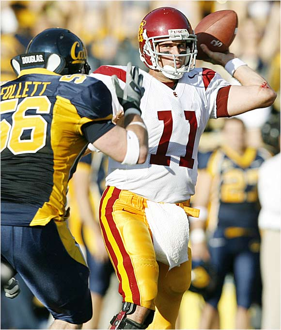 The 2004 Heisman winner amassed 10,963 passing yards with 99 touchdowns while going 37-2 as USC's starter and helping the Trojans win two national championships.