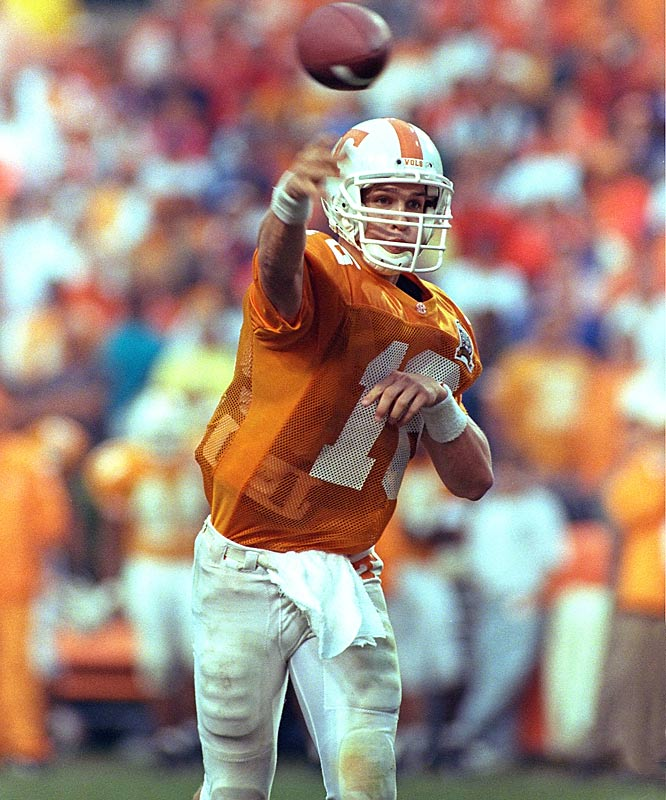Though he never beat Florida or won the Heisman, the Super Bowl winner owns Volunteer records for all-time passing yards (11,201) and touchdowns (89). He also won 39 of 45 games as a starter.