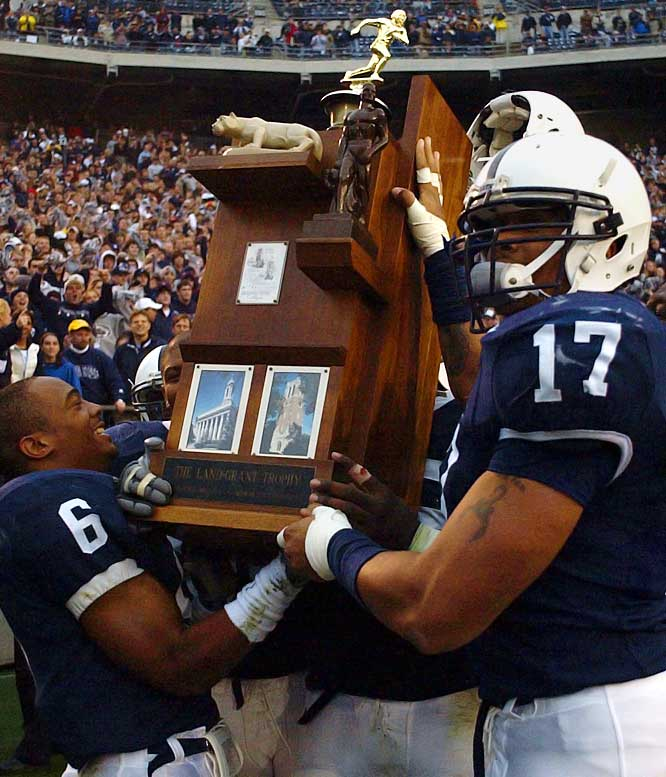 <bold>Penn State Nittany Lions vs. Michigan State Spartans</bold> Trophy introduced in 1993.