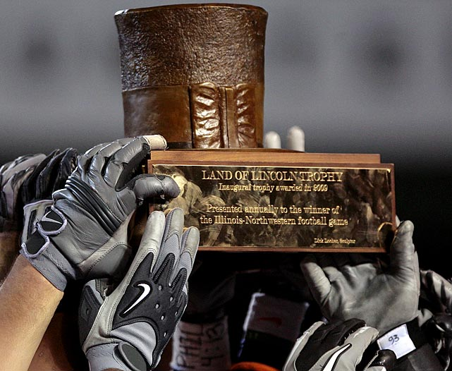 Illinois Fighting Illini vs. Northwestern Wildcats    Trophy introduced in 2009.