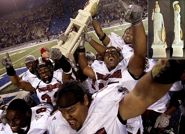 Troy Trojans vs. Middle Tennessee Blue Raiders    Trophy introduced in 2004.