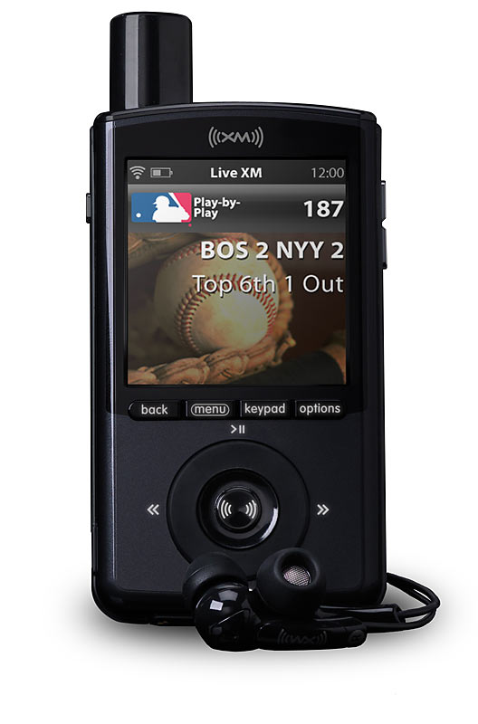 Thanks to the merger between Sirius and XM satellite radio, the recently released XMP3 is now your portable one-stop source for listening to any game at any time from the MLB, NFL, NBA, NHL, plus live coverage of NASCAR, PGA, IndyCar Series Racing and others.