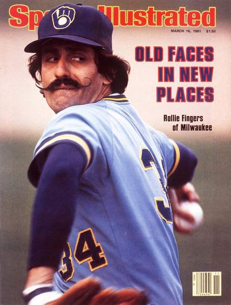 Rollie Fingers is released by the Brewers at the age of 39. At the time, Fingers was baseball's all-time saves leader with 341.