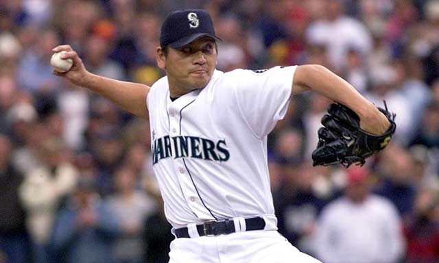 At 32, Mariner closer Kazuhiro Sasaki becomes the second-oldest major leaguer to win Rookie of the Year honors.