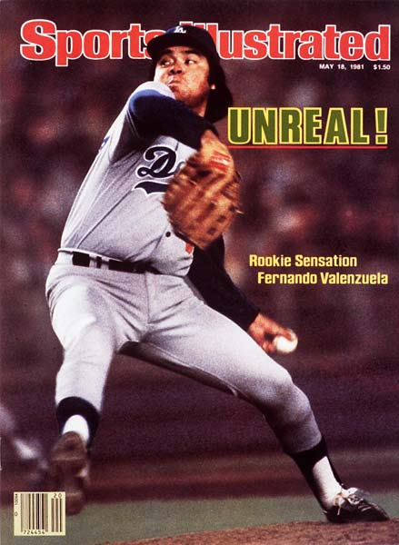Fernando Valenzuela becomes the first pitcher to win both the Rookie of the Year and the Cy Young Award in the same season.